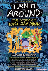 Abramorama and Giant Pictures announced today that the punk music documentary, Turn it Around: The Story of East Bay Punk is being released in more than 70 territories including the United States, Canada, United Kingdom, Brazil and Latin America. The film can now be purchased only on iTunes.