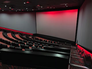 Although the existing room had the basic shape of an amphitheatre, a great deal of work was needed to make it a modern movie theatre.
