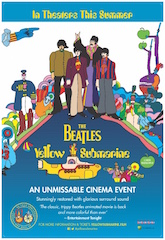 Abramorama, in association with Apple Corps and Universal Music Group, will theatrically release The Beatles' classic 1968 animated feature film, Yellow Submarine, across North America this July in celebration of its 50th anniversary.