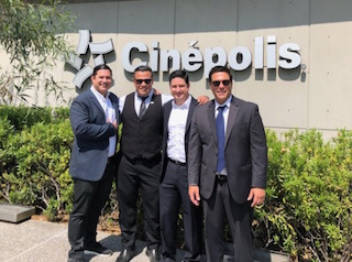 Pictured, left to right Alex Younger, vice president sales services, CES+; Rick Cabrera, vice president technology, Cielo; Guillermo Younger Jr., CEO, Cielo; Lance Gil; international sales and channel manager, Cielo.