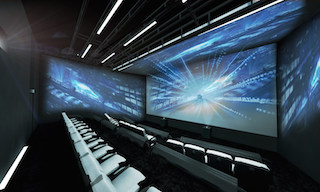 CJ 4DPlex unveiled what it called the world's first four-sided 4DX Screen movie theatre at this year's Consumer Electronics Show currently underway in Las Vegas.