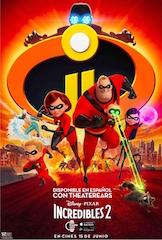 Disney•Pixar's Incredibles 2 will be available on the TheaterEars app, enabling moviegoers who prefer Spanish to enjoy it at movie theatres across the US and Puerto Rico.