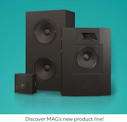 Eastern European speaker manufacturer Mag Cinema has introduced several new speakers including the 400 series for small to mid-sized halls.