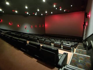 The B&B Theatres ScreenX screen in Liberty, Kansas is more than four stories tall and seven stories wide.
