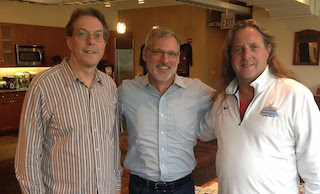 Sound Lounge founders Tom Jucarone, Peter Holcomb and Marshall Grupp.