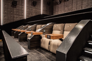 In addition to serving food the Star Cinema Grill features heated leather seats.