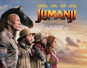 Sony Pictures Entertainment is releasing Jumanji: The Next Level for CJ 4DPlex's 4DX multi-sensory, motion synchronized seating and for the 270-degree panoramic screens of ScreenX.