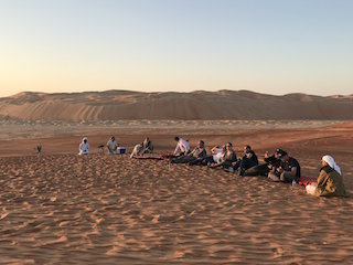 International film executives visit Qasr Al Sarab as part of their tour of Abu Dhabi.