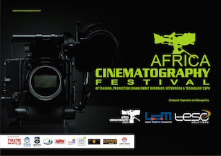The Africa Cinematography Festival will take place in Lagos, Nigeria in the second week of November.