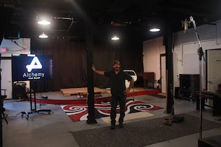 Alchemy Post Sound has added a second Foley stage to its facility in New York. Pictured, Leslie Bloome.