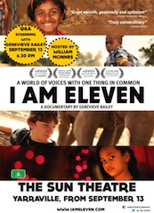 Filmmakers Genevieve Bailey and Henrk Nordstrom were there to promote their documentary I Am Eleven.