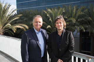 Dave Froker, CEO Focusrite,left, and Tim Carroll, vice president of audio products, Avid