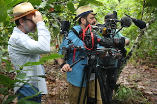 Antonio Rossi behind camera with producer Fisher Stevens.