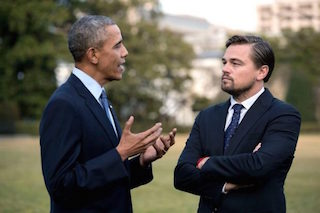 DiCaprio's conversation with President Obama, for example, took place on the White House lawn.