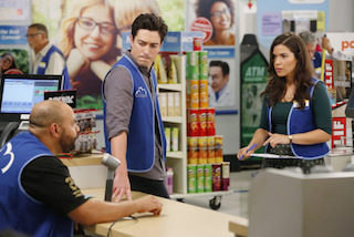 Hunter has adopted a reality TV shooting style for Superstore.