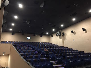 The Christie Vive Audio components installed in MZC Quanjing Cinema include LA Series line array, surround and ceiling surround loudspeakers .