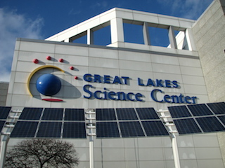 Cleveland's Great Lakes Science Center is installing the first giant dome cinema laser system.