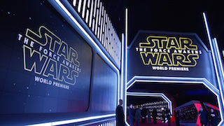 Christie microtiles and LCD panels led the way along the red carpet for the Star Wars premiere.