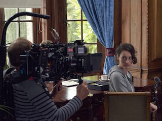 Miller shot the series using Cooke anamorphic/i lenses. Photo by Hal Shinnie.