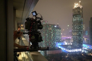 DP Philipp Blaubach used Cooke Anamorphic/i lenses on Arri Alexa digital cameras to capture the modern architecture and dazzling night skyline of Shanghai.