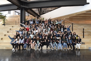 Dolby Laboratories this week hosted Girls Who Code, a national non-profit organization dedicated to closing the gender gap in technology. Photo by Genevieve Shiffar.