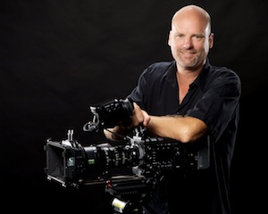 DP Jon Nelson with is new Sony 4K Digital Cinema CineAlta camera and Fujinon Cabrio lens.