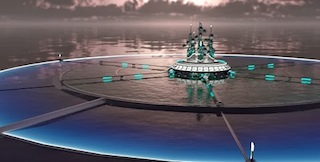 Aquaculture Pod: Agriculture and aquaculture communities reside nearby, but float freely, delivering their harvest. Research into medicines developed from ocean cell life would happen below the surface.