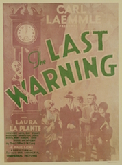 Universal Pictures has restored the 1929 classic mystery The Last Warning.