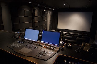 A screening room at Light Iron in New York.