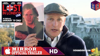 Woody Harrelson's live film Lost in London will play in more than 500 theatres.