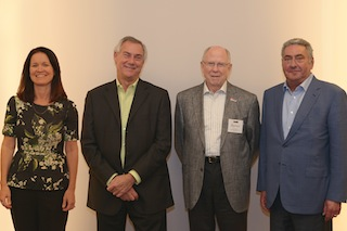 Pictured, left to right, are Amy E. Miles, S. David Passman, III, Byron Berkley and George Solomon.