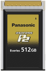 Panasonic expressP2 card.
