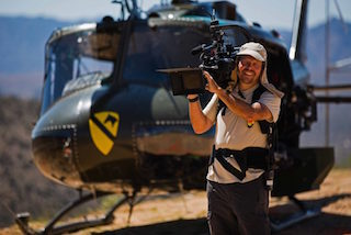 Jim Hunziker, VariCam 35 camera operator on location in the deserts of Arizona. Photo by Andrew Parke