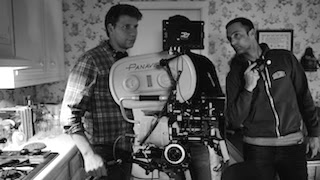 Director Jeff Nichols, left, and cinematographer Adam Stone on the set of Midnight Special. Photo by Ben Rothstein