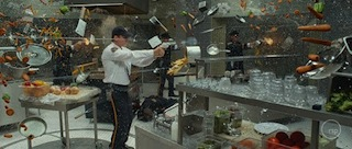 The Kitchen scene from X-Men: Days of Future Past.