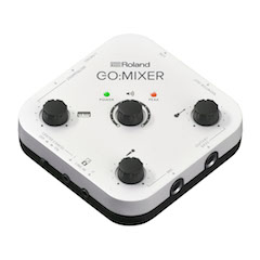 Roland's Go:Mixer, a compact audio mixer for smartphone video production, is now available.