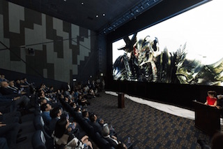 Samsung unveiled its LED Cinema Screen at an  invitation-only demonstration at CinemaCon.