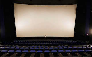 There are two auditoriums with screens that are 90 feet wide.