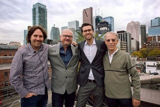 Left to right: Chris Parker, Marcus Valentin, Marc Bachli, Rob Sim