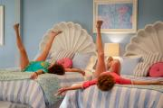 Barb and Star Go to Vista Del Mar was written by its two lead actors, Annie Mumolo and Kristen Wiig, who also wrote the 2011 smash hit comedy Bridesmaids.