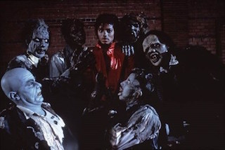 Academy Award-winning make-up artist Rick Baker was brought in for the elaborate prosthetic transformation of Jackson and the cast.