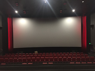 Bow Tie's Ultimate Annapolis Mall 11 in Annapolis, Maryland. Cinema Pro provided and installed the complete front end, including the screen, curtains, maskings and lighted side curtains and also did the wall drapery.