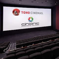 Toho Cinemas has selected Cinionic laser cinema projection for its new Tachikawa location, which opened in September. The theatre is the first Cinionic laser site for Toho Cinemas, one of Japan's largest exhibitors with more than 679 screens across 72 locations and will include Barco Series 4 and Barco Smart laser units.