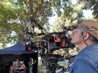 DP Toby Oliver ACS at the camera with the Cooke S7i 50mm lens shooting  on location in Los Angeles.