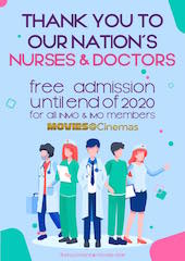 When movie theatres reopen in Ireland, doctors and nurses can attend Spurling theatres for free.