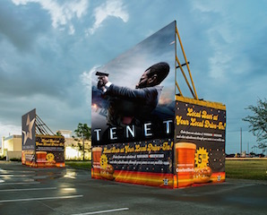 Star Cinema Grill's new drive-in theatre at their Cypress, Texas location is open and is set to premiere director Christopher Nolan's latest film, Tenet, on Thursday September 3.