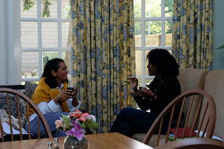 The Writers Lab mentor Shruti Ganguly, left, with writer Kenyetta Raelyn.