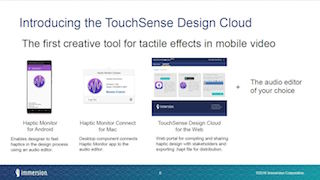 Immersion Touchsense Design Cloud